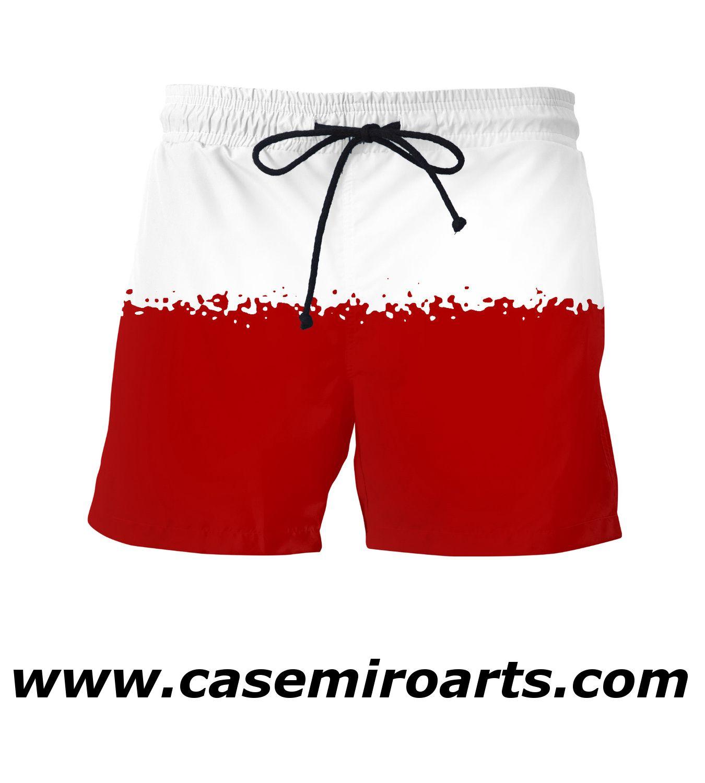 Red Splash Men Square cut Swimsuit