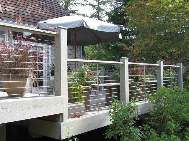 Pin by Carolyn. Barr on Deck | Pinterest | Cable fencing, Fences and ...