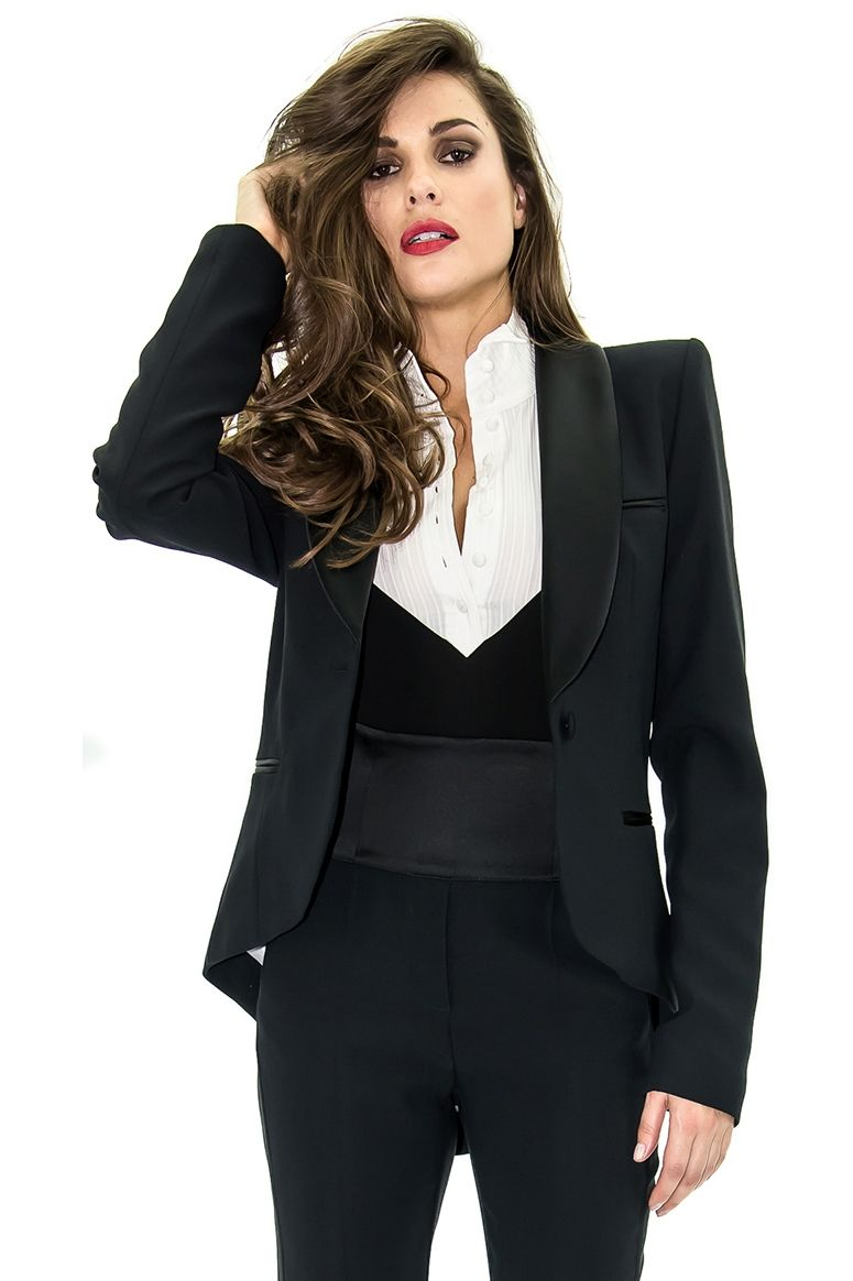 Veste de blazer noire femme