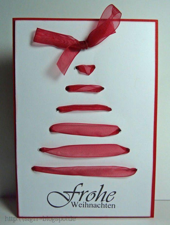 Weihnachtskarten basteln niedliche idee f r eine selbstgemachte diy und selbermachen - Pinterest weihnachtskarten ...