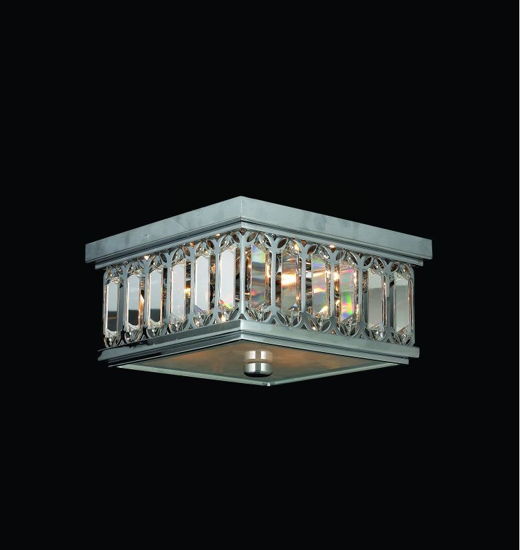 "Worldwide Lighting W33140C10 Athens 4 Light 10"" Flush Mount Ceiling Fixture in C Chrome Indoor Lighting Ceiling Fixtures Flush Mount"