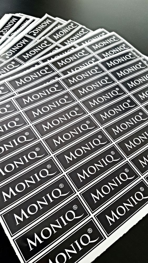 Every detail matters = MONIQ branded stickers to complement our gift wrap!