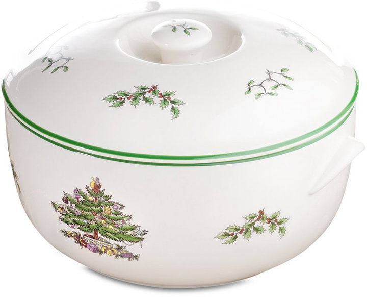 Spode Christmas Tree Large Lasagna Dish with Pot Holders, Created