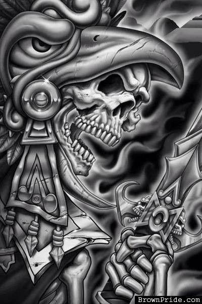 78721adad aztec art magezine | Tattoo Ideas, Aztec Warriors, Bones Art, Eagles  Warriors, Aztec Eagles .