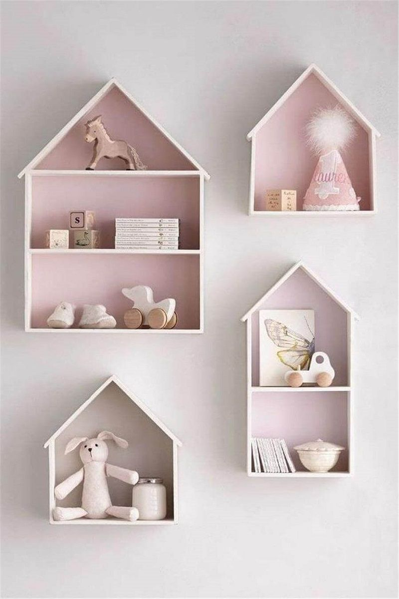 House shelves baby room nursery pink storage also best decoration ideas to welcome your little ones rh pinterest