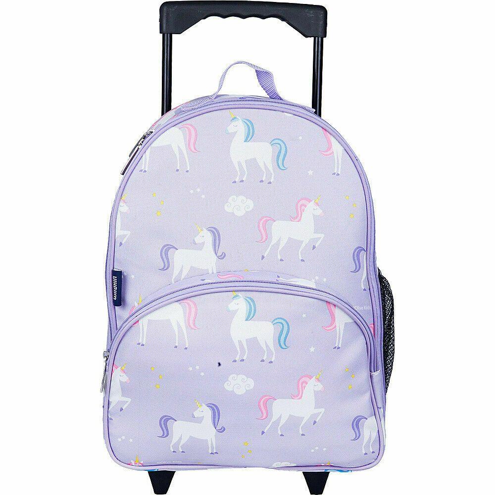 Wildkin Kids Rolling Backpack Unicorns Kids Luggage Wheels New