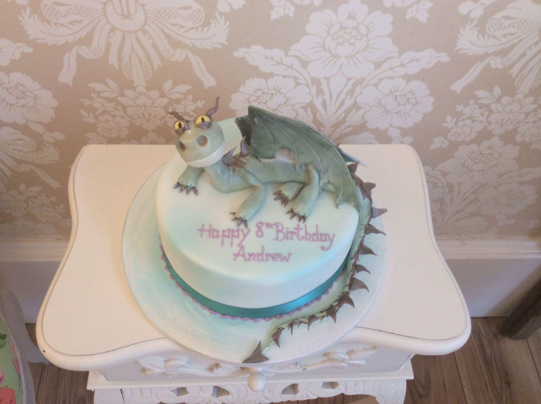 Terrible terror dragon novelty cake