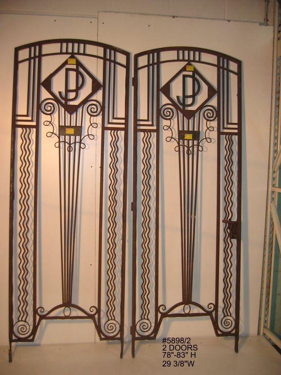 Art Deco Doors French Art Deco Art Deco Door Wrought Iron Doors
