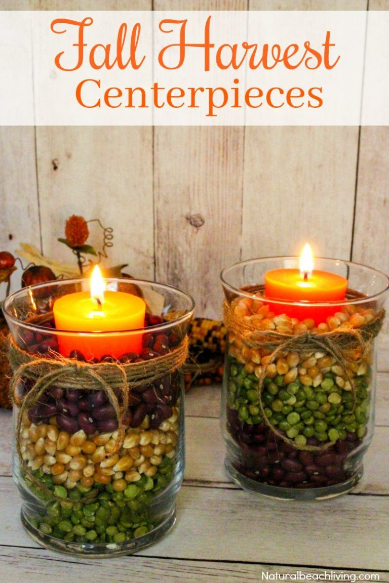 Easy Fall Table Centerpieces Harvest Centerpieces For Fall Decor Fall Centerpieces Diy Fall Candle Decor Fall Table Centerpieces