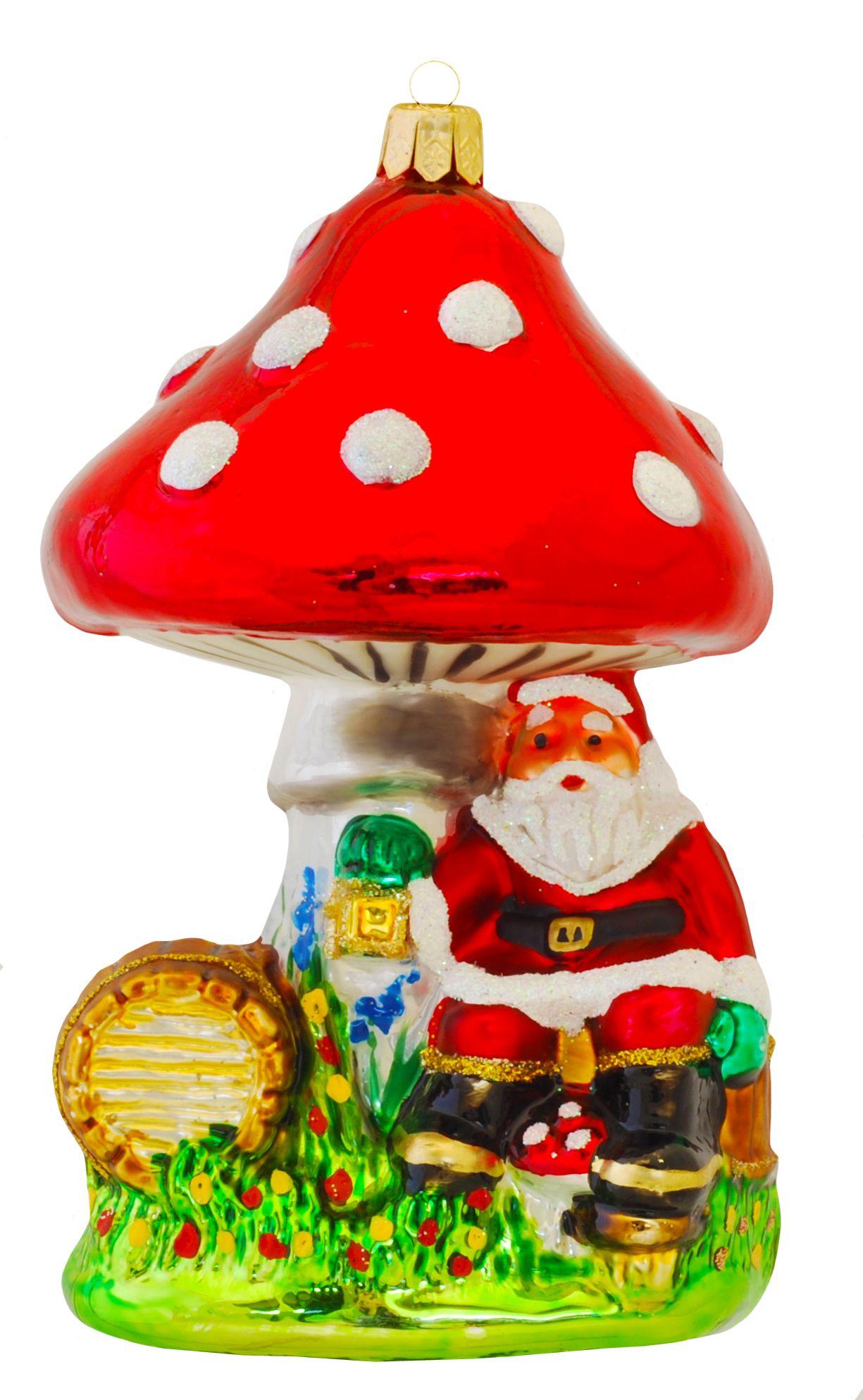 How cute is this Santa under a traditional Polish mushroom ...
