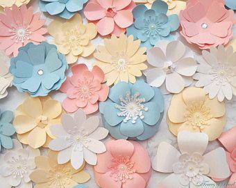 Una Variedad De Pequenas Flores De Papel 24 Piezas Flores De