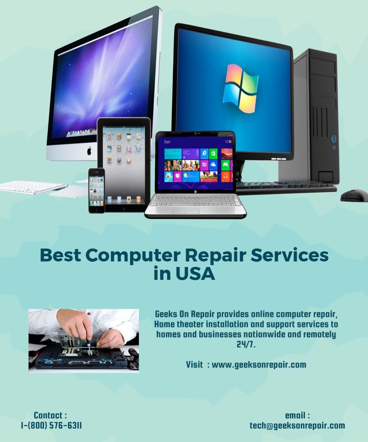 Geeks On Repair provides online computer repair, Home