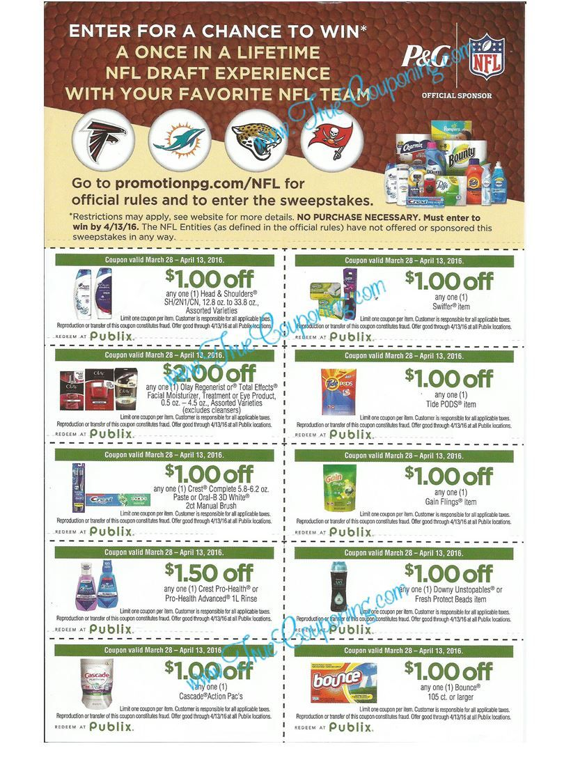 Publix Tackle Everything Coupon Sheet  Vip Experience