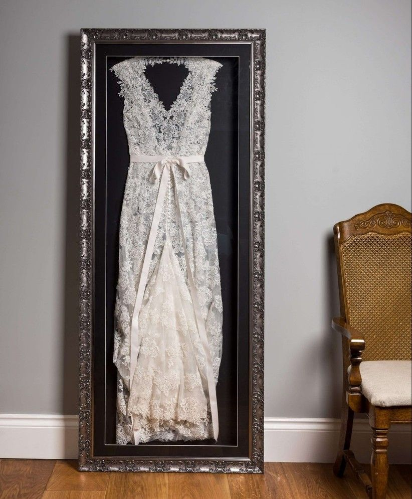 Wedding Dress Framing How to Frame Your Wedding Dress in