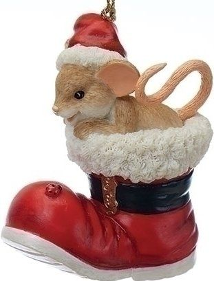 Charming Tails 130449 Santa Boot 25th Anniversary Ornament Resin  $15.99