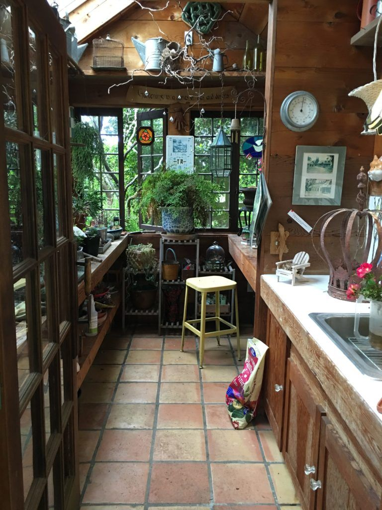 A Gorgeous Rustic Potting Shed Tour Garden Shed Interiors