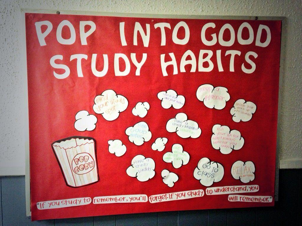Ra Bulletin Board For Midterm Week Pop Into Good Study Habits