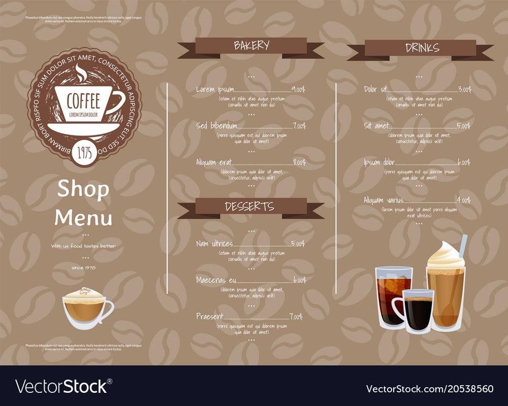 Coffee Shop Menu Template Free Milas Westernscandinavia Regarding Free Cafe Menu Templates For Word Best Professio Coffee Shop Menu Menu Template Cafe Menu