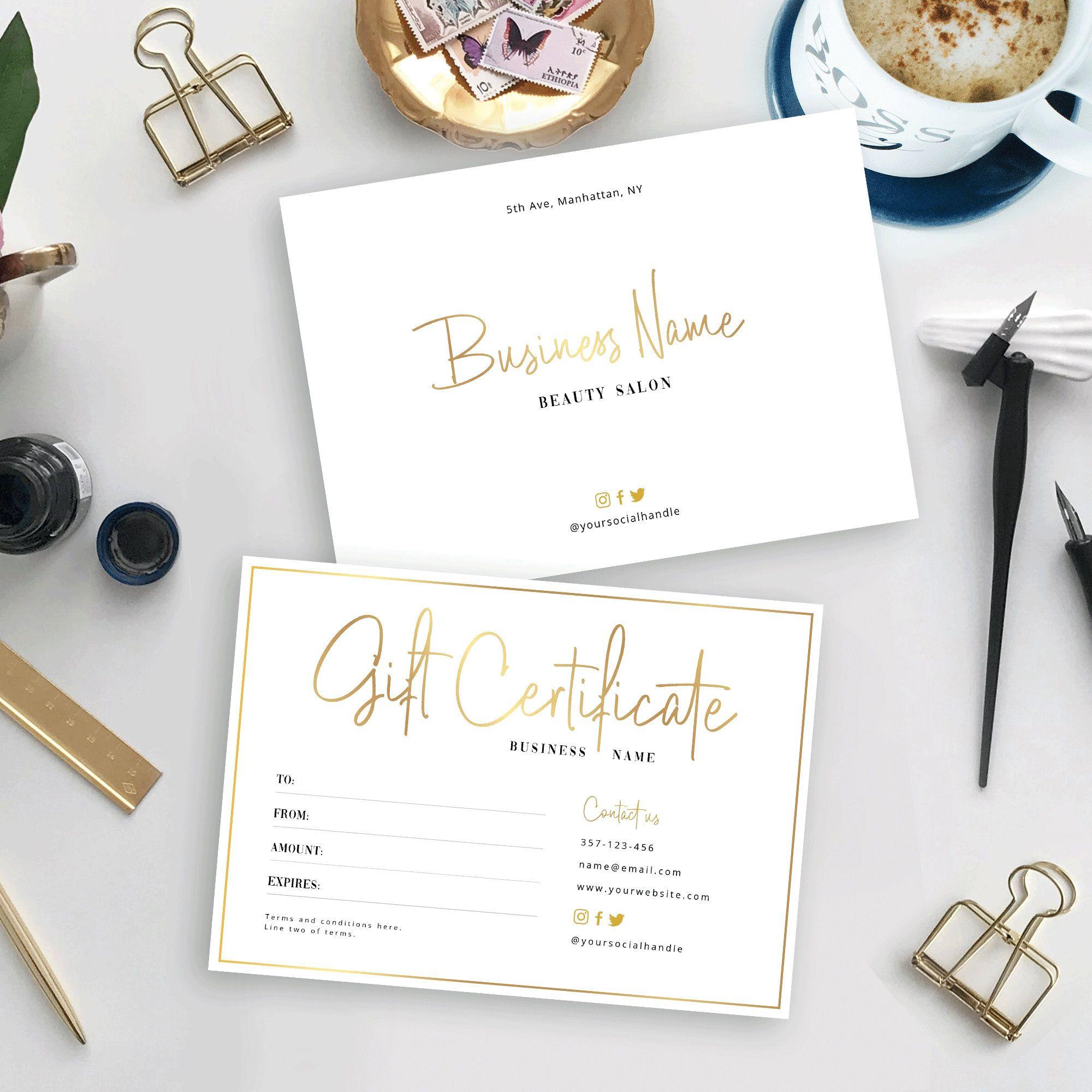 Editable Gift Certificate Template Custom Gift Card Instant Etsy Gift Certificate Template Gift Card Template Photography Invoice Template