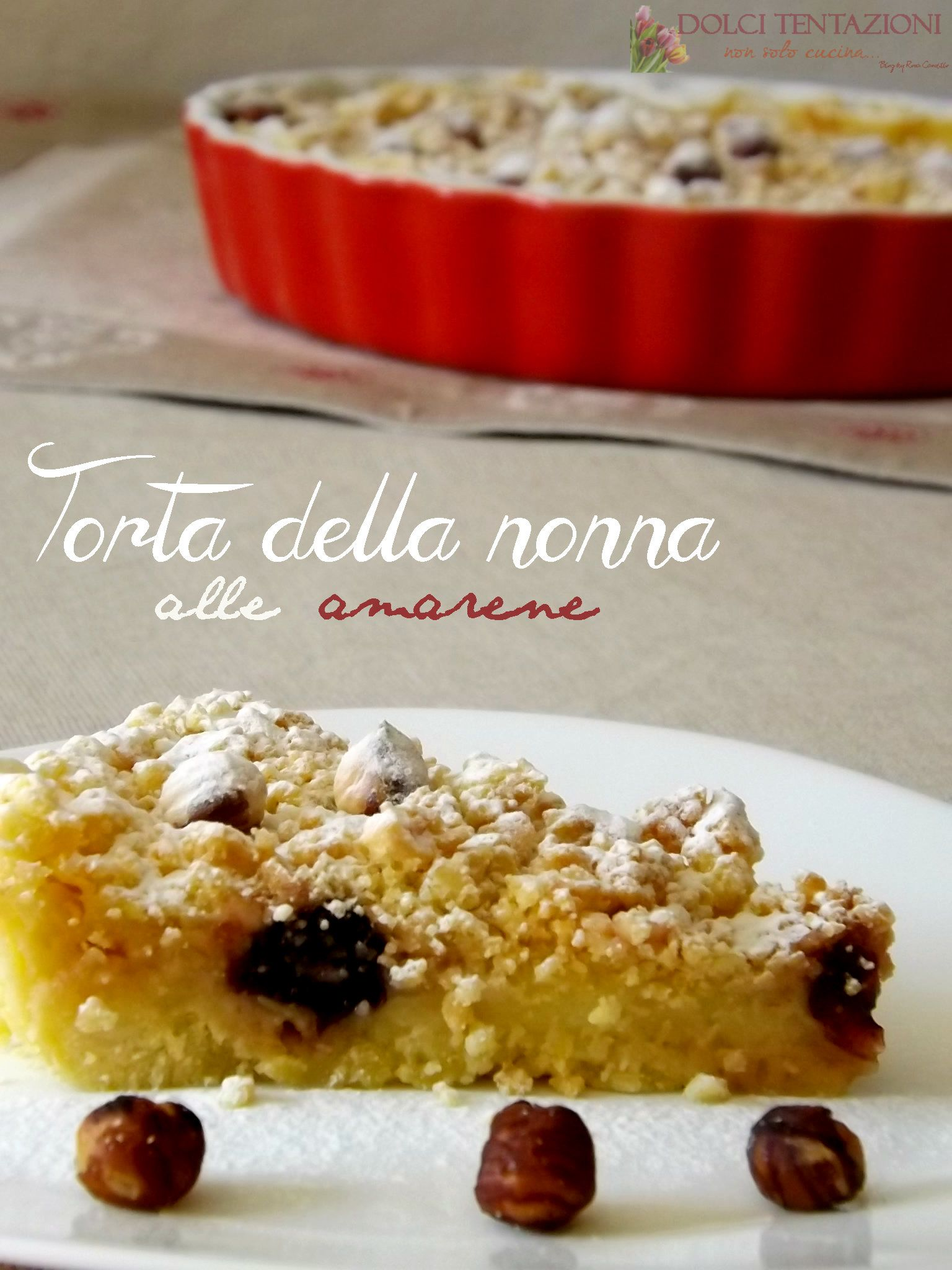 Photo of Una golosa variante della classica è la Torta della nonna alle am