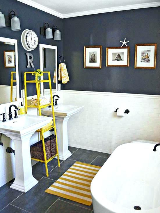 Navy Blue Bathroom Navy Blue Bathroom Ideas Navy Blue Bathroom Floor Yellow Bathrooms Navy Blue Bathrooms Blue Bathrooms Designs