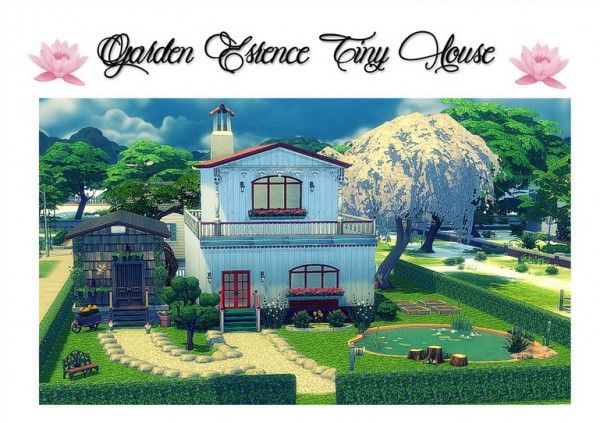 Sims 4 Designs: Garden Essence Tiny House • Sims 4 Downloads