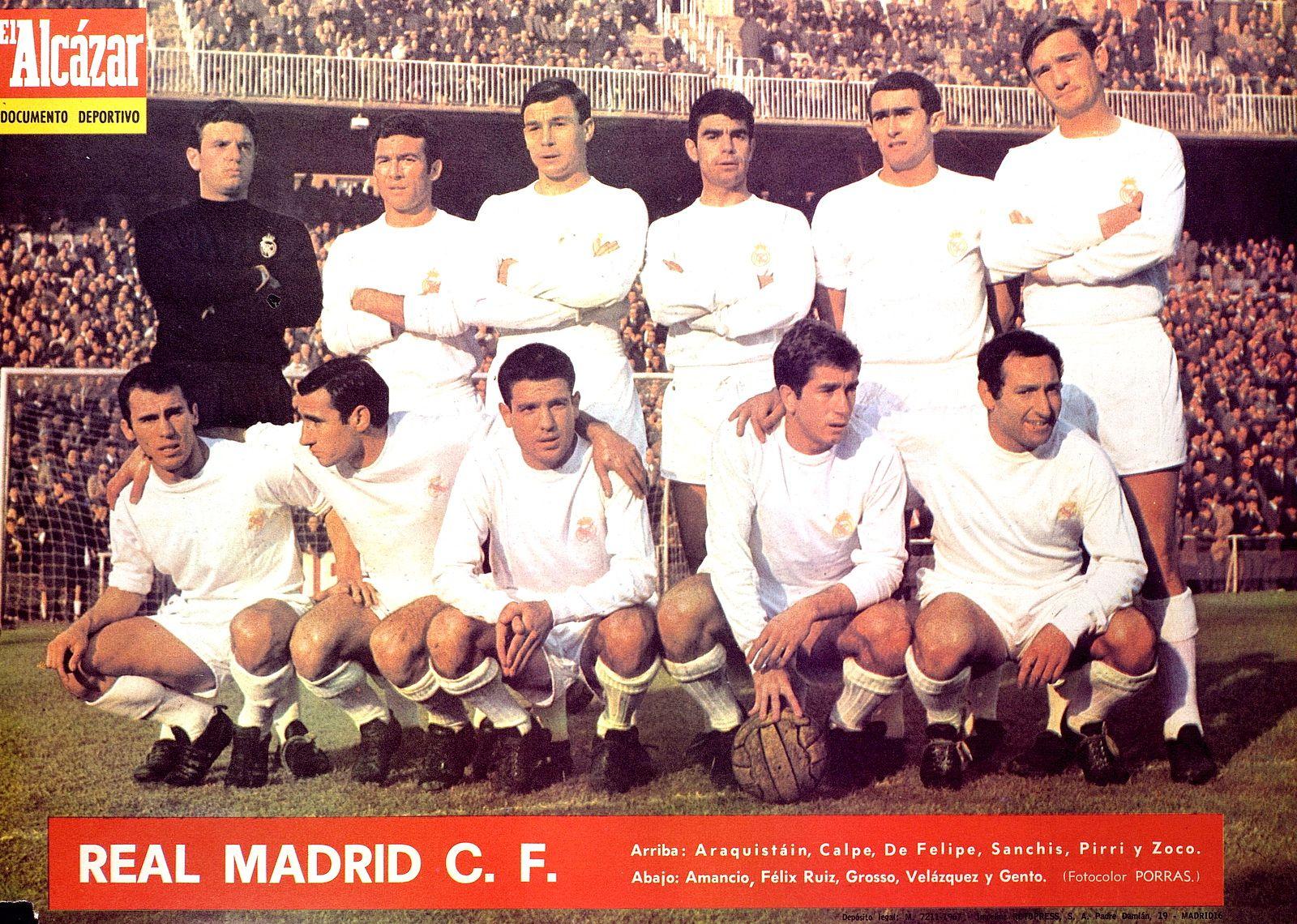 "Real Madrid team group in 1967 68 SELECCI""N Pinterest"
