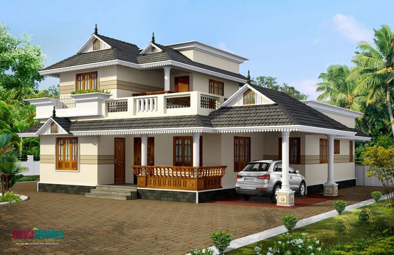 We Are Showcasing Kerala House Plans At 1200 Sq Ft For A Very Beautiful Single Story Home Design At An Area Of 1800 Sq Ft This House Co Kerala House Design Kerala Houses