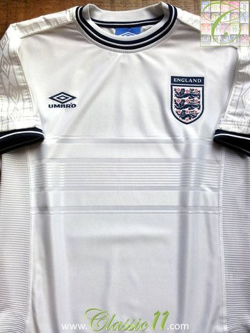 Relive England S 2000 2001 International Season With This Vintage Umbro Home Football Shirt