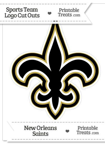 Large New Orleans Saints Logo Cut Out from PrintableTreats.com ...