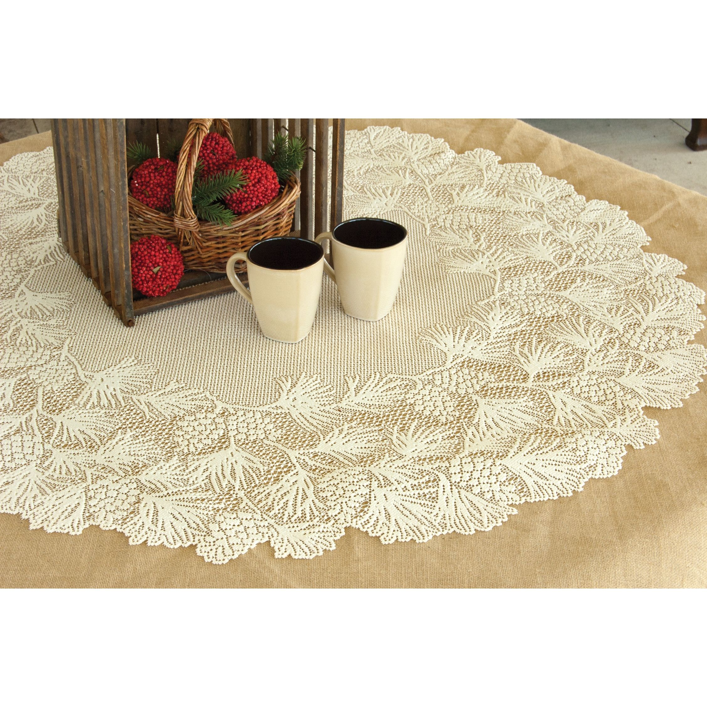 Dining Room Table Toppers Mesmerizing Round Lace Table Toppers  Httpargharts  Pinterest  Lace Review