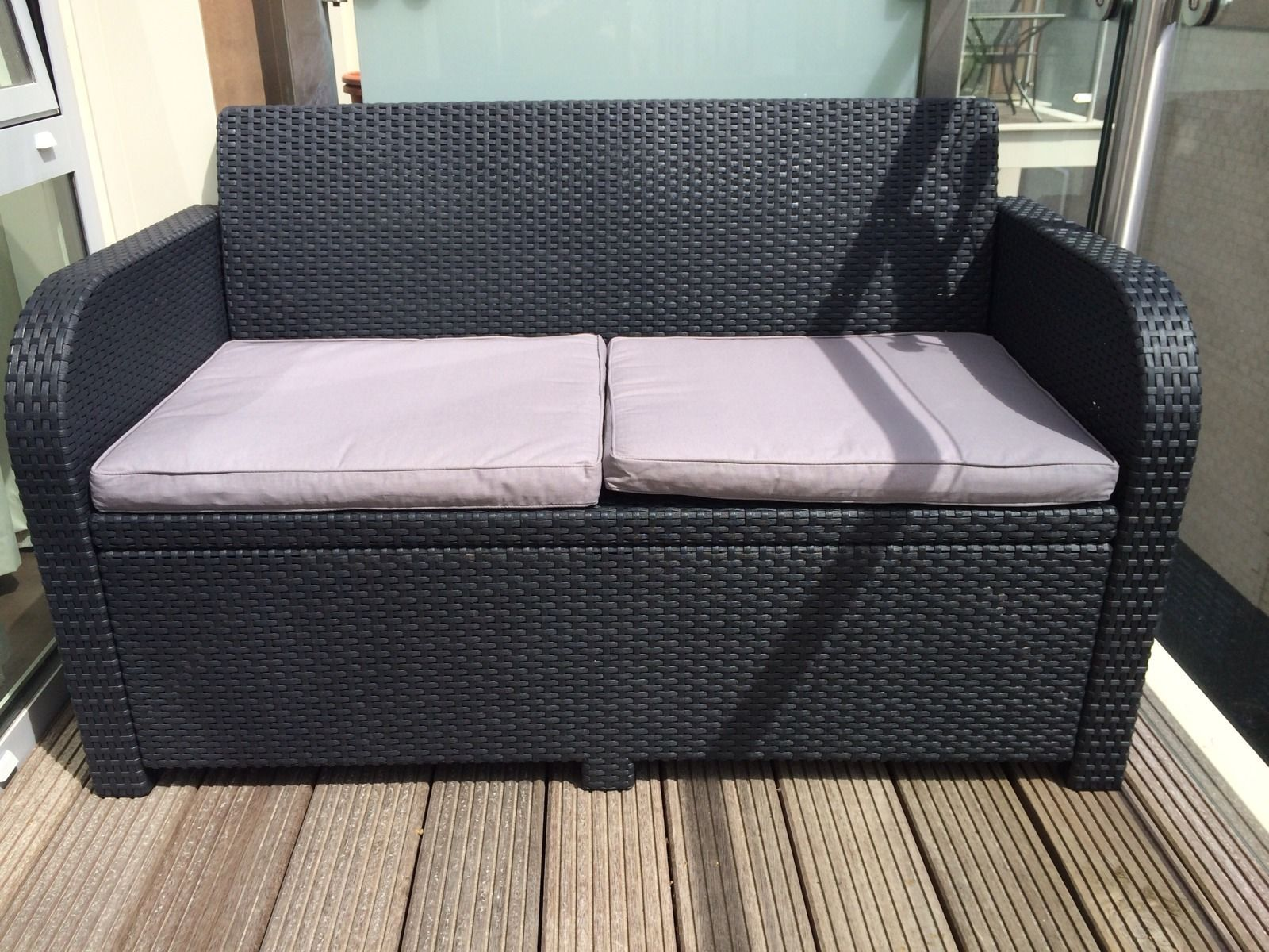 Rattan Garden Balcony Patio Furniture Bench eBay (With