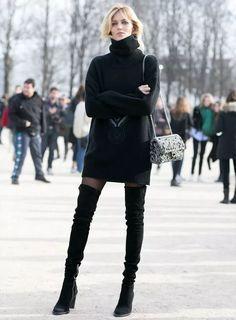 Saiba como arrasar no look e enfrentar o frio com meia calça