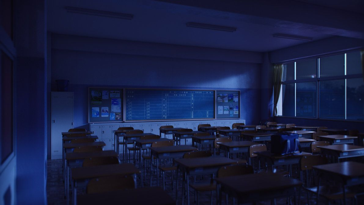 Classroom Night Night Aesthetic Cool Wallpapers For Your Phone Anime Background