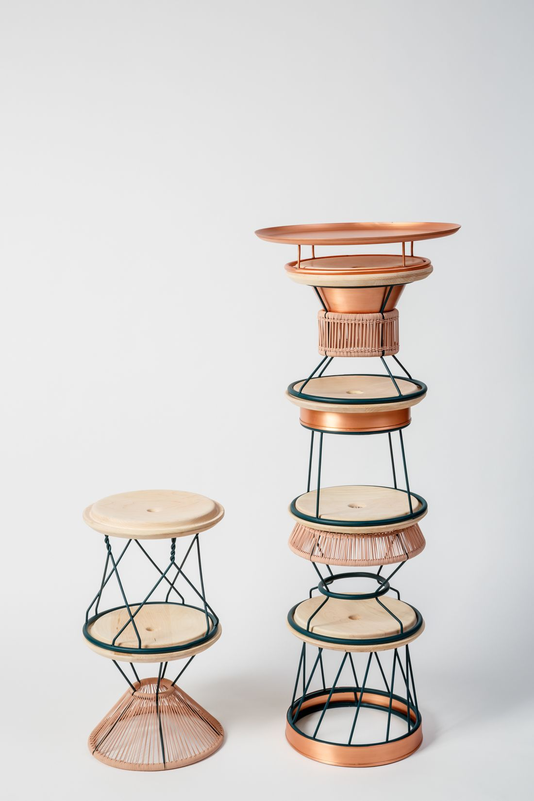 Sedie Alte Da Bar Design yemenite: a totem made of stackable seating | stackable