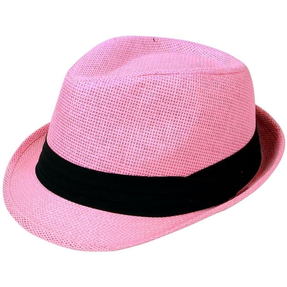f9d38d5e Simplicity Women Men Summer Double Colors Fedora Hat w/ Rasta Band ...