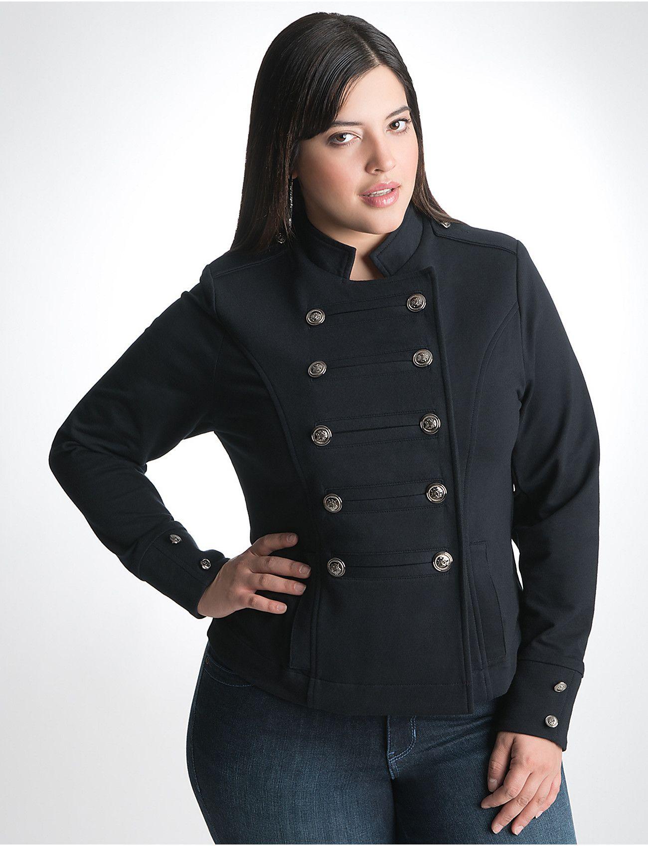 dad3b6183b9 Plus Size Military Jacket by Lane Bryant