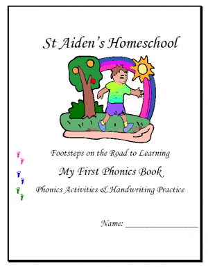 Footsteps on the Road to Learning ~ First Phonics Book - St Aiden's Homeschool |  | WritingCurrClick