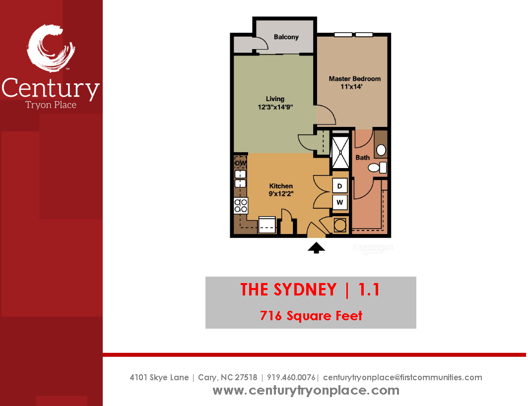 If You Need A 1 Bedroom Apartment With A Big Closet This Is The Apartment For You Http Www Century Apartme Unique Floor Plans 1 Bedroom Apartment Century