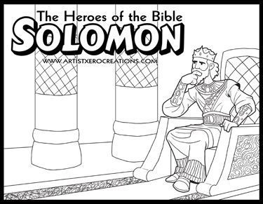 The Heroes Of The Bible Coloring Pages Solomon Sunday School