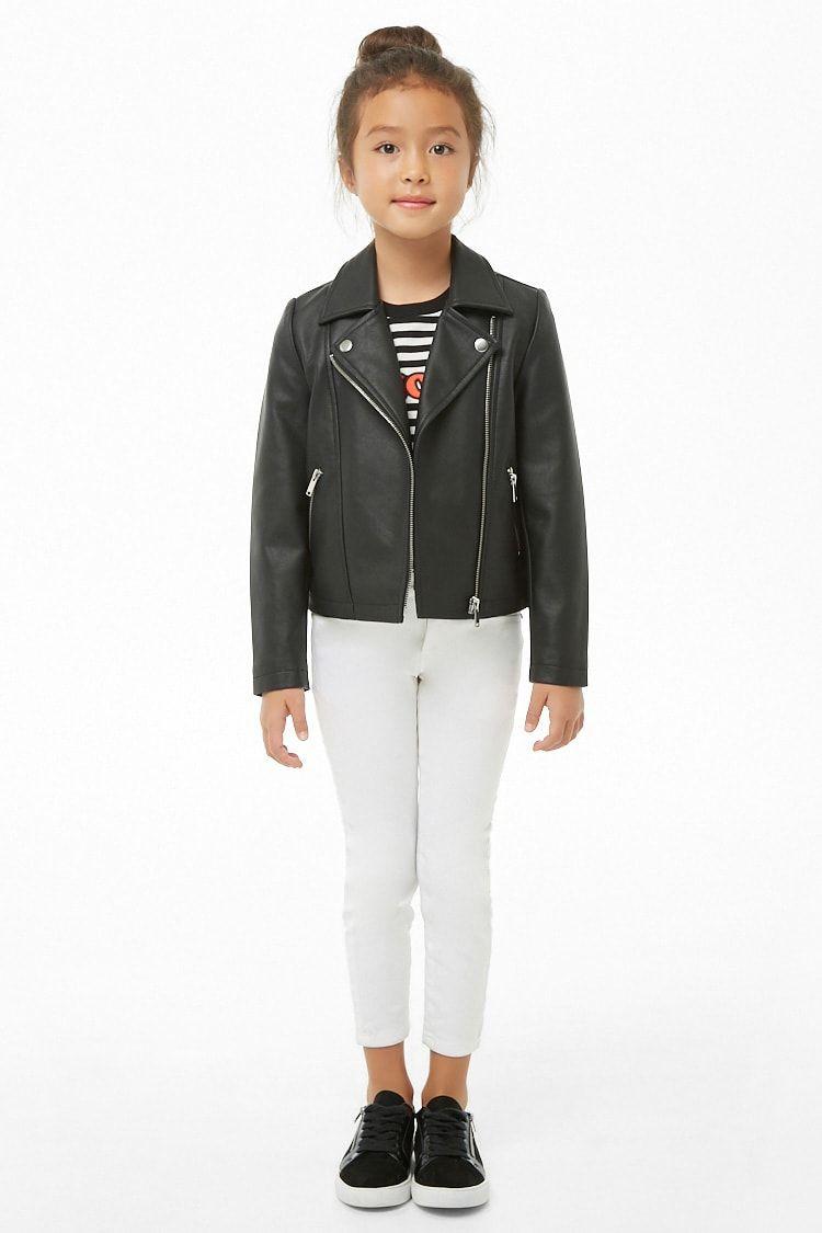 Girls Faux Leather Jacket Kids Leather Jacket Outfits Kids Leather Jackets Leather Jacket [ 1125 x 750 Pixel ]