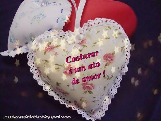 Corações fofos em tecido. (costurasdakrika.blogspot.com.br)