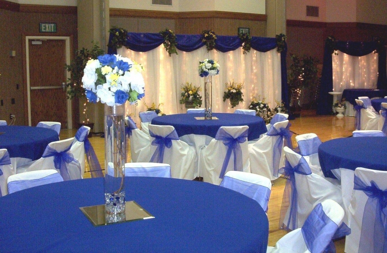 Download Blue Wedding Decoration Ideas Gen4congress Within Royal Blue And Silver Wedding Decorations Blue Wedding Decorations Blue Wedding Receptions Royal Blue Wedding Theme