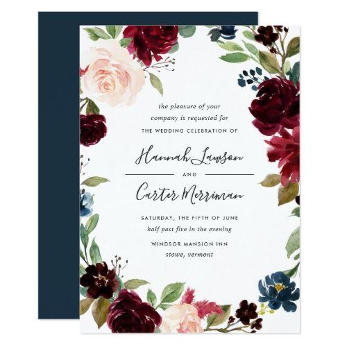 Radiant Bloom Floral Frame Wedding Invitation   Zazzle.com