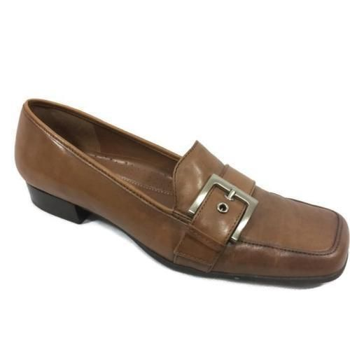 NATURALIZER Size 8N Brown Leather Loafers Womens Shoes Buckle Toe EUC #Naturalizer #Oxfords #WeartoWork