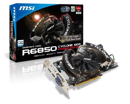 Msi r6850 cyclone 1gd5 power edition oc review.