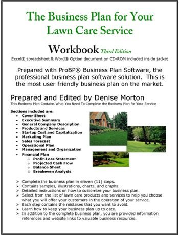 the business plan for your lawn care service business plans