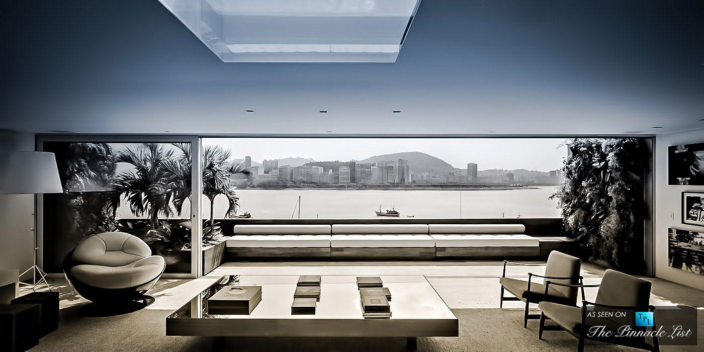 Casa Urca Penthouse Rio De Janeiro Brazil Interior Architecture Modern Architecture Design Architecture [ 700 x 1400 Pixel ]