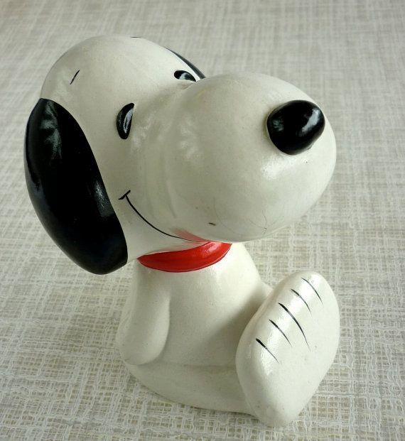 Vintage Snoopy Piggy Bank by LisbonStory on Etsy, $10.00