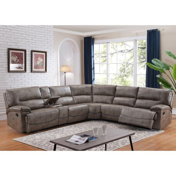 Donovan Sectional Sofa with 3 Reclining Seats | Sectional